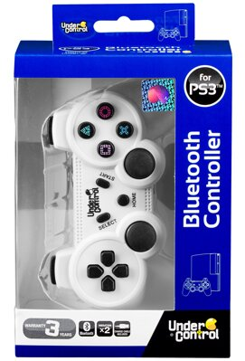 Ovladač Bluetooth PS3 bílý