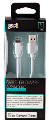 USB lightning iphone kabel bílý