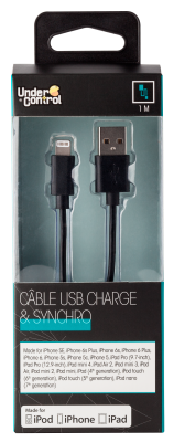 USB lightning iphone kabel černý